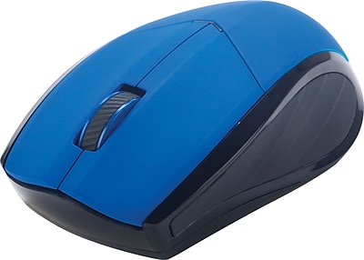Staples Wireless Optical Mouse, Blue