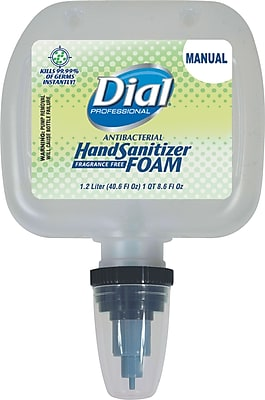 Dial® Professional Foaming Hand Sanitizer Refill, 1,200 mL, 3/Pack