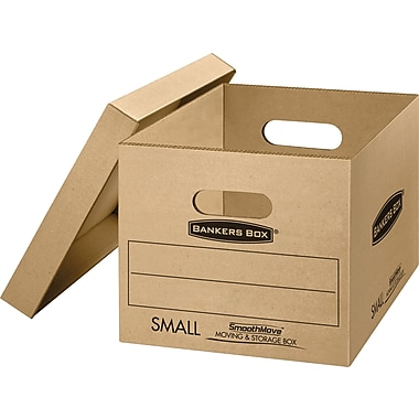 Bankers Box® SmoothMove classic moving boxes, Small, 15''x12''x10'', 5/Pack (7714212)