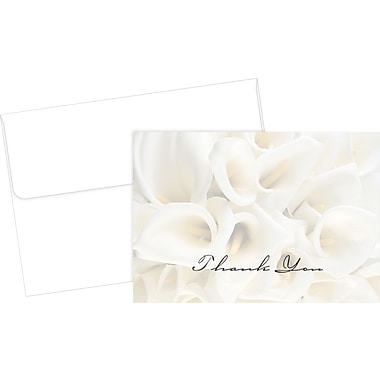 Great Papers® White Calla Lilies Thank You Cards, 50/Pack