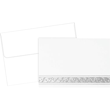 Great Papers® Silver Filigree Note Card Kit, 50/Pack