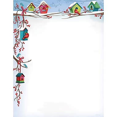 Great Papers® Holiday Stationery Count Christmas Birdhouse, 80/Count