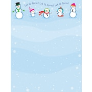 Great Papers® Holiday Stationery  Count Let It Snowmen, 80/Count