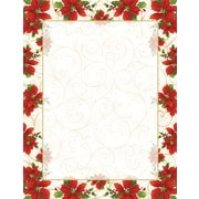 Great Papers® Holiday Stationery Poinsettia Swirl Letterhead, 80/Count (2014076)