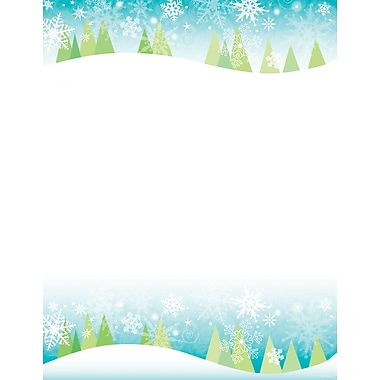 Great Papers® Holiday Stationery Lh 2 Count Snowy Trees, 250/Count