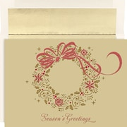 Great Papers® Holiday Cards Gold Shimmer Wreath  , 16/Count