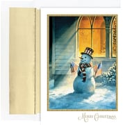 Great Papers® Holiday Cards Patriotic Snowman  , 18/Count