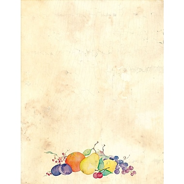 Great Papers® Crackled Fruit Letterhead 80 count