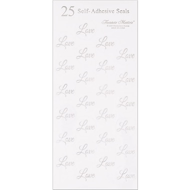 Great Papers® Silver Love Seals, 100/Pack