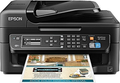 Epson® WorkForce® WF-2630 Wireless Multifunction Color Inkjet Printer (C11CE36201)