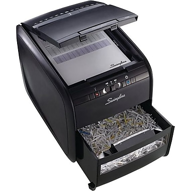 Swingline® Stack-and-Shred™ 60X Hands Free Shredder, Cross-Cut, 60 Sheets, 1 User