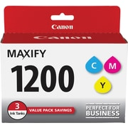 Canon PGI-1200 Color C/M/Y Ink Cartridges (9232B005), 3/Pack