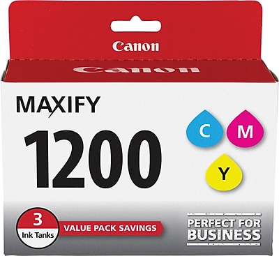 Canon PGI-1200 Color C/M/Y Ink Cartridges (9232B005), Multi-pack (3 cart per pack)