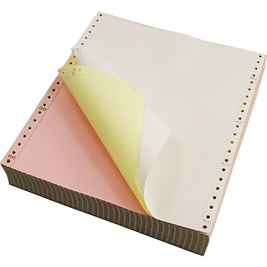 Staples Multi Part Colored Computer Paper 9 1 2