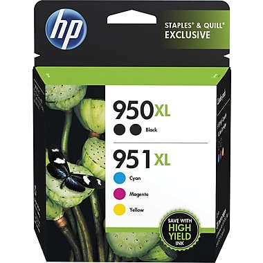 HP 950XL 951XL Color Ink Cartridges C M Y Combo Pack