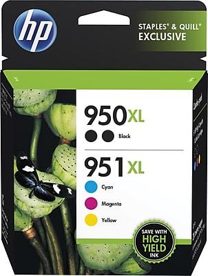 HP (F6V12FN#140) Cyan, Magenta, Yellow, Black Ink Cartridge, High Yield, 5/pack