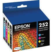 Epson DURABrite Ultra 252 Black and Color C/M/Y Ink Cartridges (T252120-BCS), Combo 4/Pack