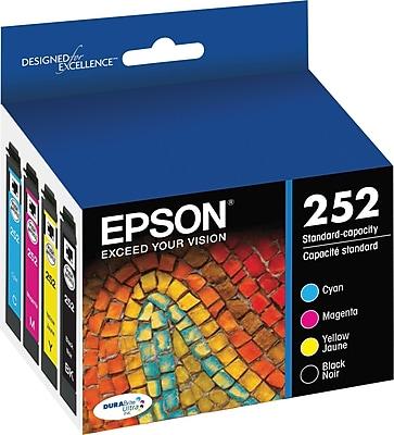 Epson DURABrite Ultra 252 Multi-Color Ink Cartridge, 4/Pack