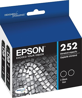 Epson DURABrite Ultra 252 Black Ink Cartridges, 2/Pack