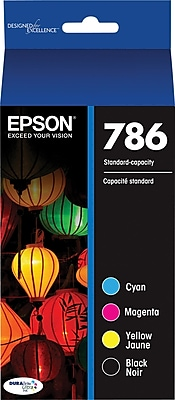 EPSON® DURABrite Ultra® 786 (T786120-BCS) Black, Cyan, Magenta and Yellow Ink Cartridge Multi-pack (