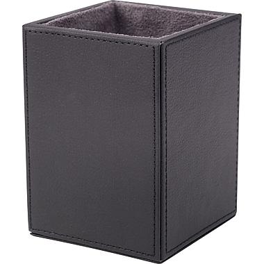 Staples Black Pencil Cup Faux Leather, Black