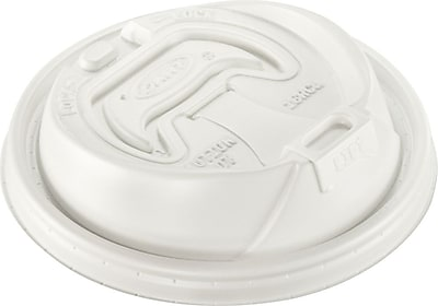 Dart 16RCL Reclosable Lid For 12 - 24 oz. Hot/Cold Foam Cup, White, 1000/Case 150094