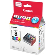 Canon® CLI-8 Black/Colour Ink Tanks, Value Pack (0620B020)