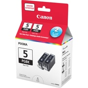 Canon® PGI-5BK Pigment Black Ink Tanks, Twin Pack (0628B015)