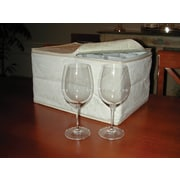Marathon Management China Storage Damask Dish Case for Stemware, Ivory