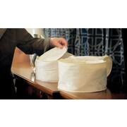 Marathon Management – Étui de rangement damas pour vaisselles en porcelaine, ivoire, 7 po