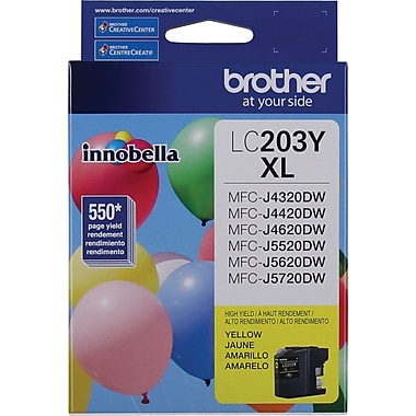 Brother LC203 Yellow Ink Cartridge, High Yield (LC203YS)