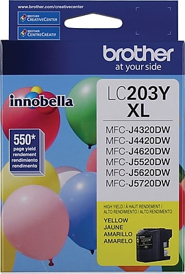 Brother (LC203YS) Yellow Ink Cartridge, High Yield