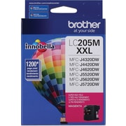 Brother LC205 Magenta Ink Cartridge, Super High Yield (LC205MS)