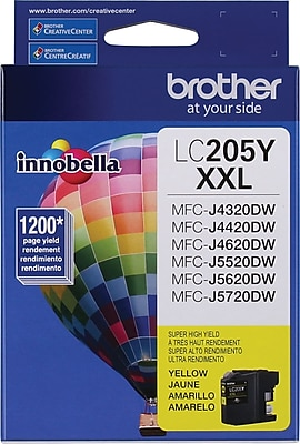 Brother (LC205Y) Yellow Original Ink Cartridge, Super High Yield