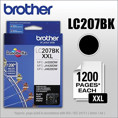 Brother Ink Cartridge (LC207BK), Super High Yield, Black (LC207BKS)