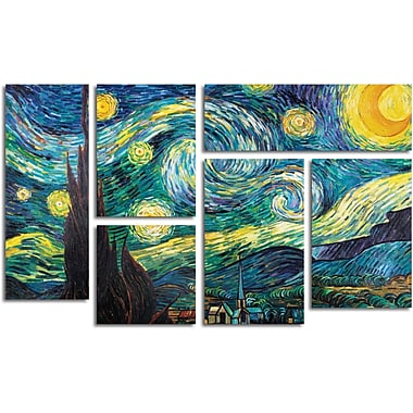 Vincent van Gogh 'Starry Night' Gallery-Wrapped Canvas Art, 6-Panel Set