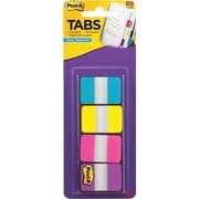 "Post-it® 1"" Durable Tabs, Aqua/Yellow/Pink/Violet, 88 Tabs/Pack"