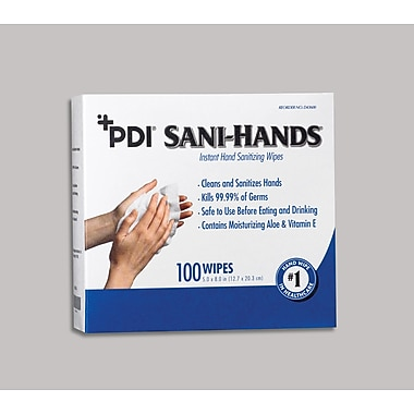 Sani-Hands® Instant Hand Sanitizing Wipes, 5x7