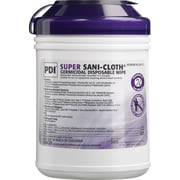 PDI® Super Sani-Cloth®- Germicidal Disposable Wipes (55% alcohol), 160 Wipes/Pk, 12/Ct