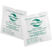 "Wet-Nap® Moist Towelettes, Lemon Scent, 7.75"" x 5"", 100/Pack, 10 Packs/Case"