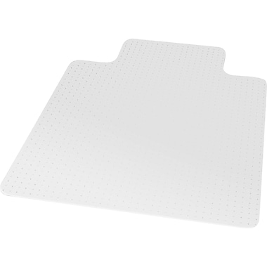 ES Robbins Robbins; 53''x45'' Vinyl Chair Mat for Carpet, Rectangular w/Lip (ESR141042)