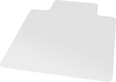 "Staples Carpet BerberMat Chair Mat, 45"" x 53'', Crystal Clear (20232-CC)"