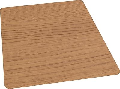 """Staples 36"""" x 48"""" Laminate Chair Mat for Hard Floors, Chestnut"""