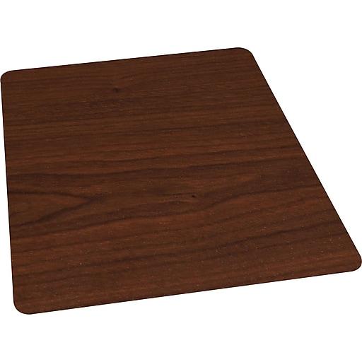 staples 36 x 48 wood veneer style chair mat for hard floors