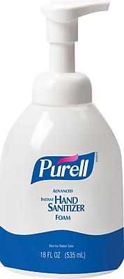 PURELL® Advanced Instant Hand Sanitizer Foam, Fragrance Free, Bottle - 535 mL, 4/Ct