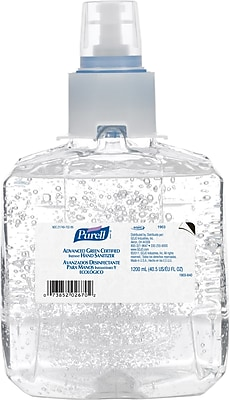 PURELL® Advanced Green Certified Instant Gel Hand Sanitizer Refill, Fragrance Free, LTX - 1,200 mL, 2/Pk