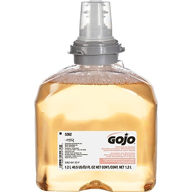 GOJO® Premium Foam Antibacterial Handwash Refill, Fresh Fruit Scent, TFX -1,200 mL, 2/Ct
