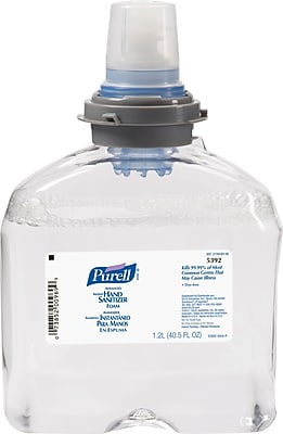 PURELL® Instant Hand Sanitizer Foam, Unscented, TFX - 1,200 mL, 2/Ct