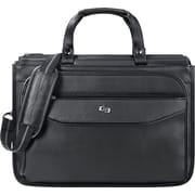 Solo Classic Triple Compartment Laptop Briefcase, Black (CLS346-4)
