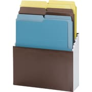 Organized Up Vertical Stadium Files With Six Folders, 3 Pockets, Letter, , Nutmeg
